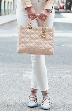 Lady Dior Large Pink bag now available! Click to see beautiful pre-owned bags.
