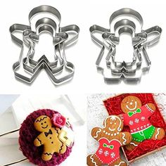 LN Shop 3Pcs Christmas Gingerbread Man Cookie Cutter Stainless Steel Biscuit Mold  Boy  *** Check out the image by visiting the link.