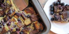 Blueberry and Chocolate Chip Bread Pudding  #PaleOMG