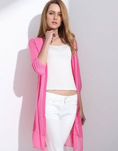 bdbfe19d455 Half Sleeve Summer Cardigan - Rose