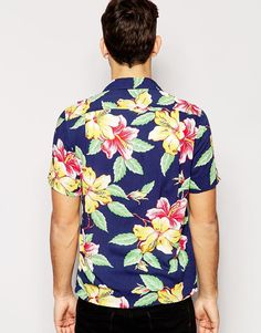 Image 2 of Polo Ralph Lauren Shirt in Slim Fit Hawaiian Print Short Sleeves