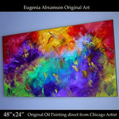 Original Abstract Modern Oil Painting on by EugeniaAbramsonArt