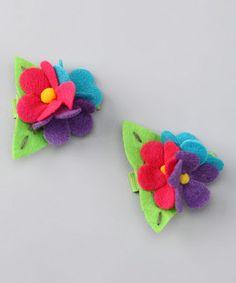 Cute felt hair clips for my lil girl!