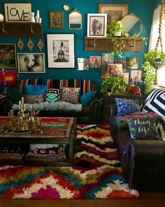 """16 Bohemian Interior Design Ideas Bohemian Interior Design – Considering an Interior Decoration Design for your home, office, or business can be a daunting task for those that like to """"think outside package"""" in terms of decorating. Opting to utilize a Bohemian House, Bohemian Decor, Boho Chic, Bohemian Furniture, Bohemian Style, Hippie House, Bohemian Interior Design, Decor Interior Design, Interior Decorating"""