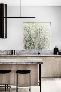 Dark, light, oak, maple, cherry cabinetry and bare wood kitchen cabinet doors. CHECK PIN for Lots of Wood Kitchen Cabinets. Kitchen Sink Window, Wood Kitchen Cabinets, Kitchen Flooring, Kitchen Countertops, White Cabinets, Kitchen Windows, Built In Cabinets, Kitchen Sinks, Modern Cabinets