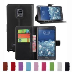 New Luxury Original PU Leather Case For Samsung Galaxy NOTE Edge N9150 NOTEEdge Flip Shell Back Cover With Card Holder Stander
