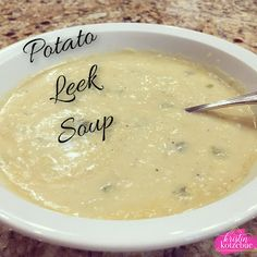 Potato Leek Soup.  Disney Be Our Guest. Delicious soup recipe.