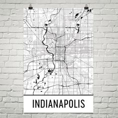 Indianapolis Map, Indianapolis Art, Indianapolis IN Art Poster, Indianapolis Wall Art, Map of Indianapolis, Gift, Print, Modern, Art