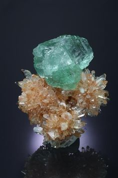 Fluorite on Creedite