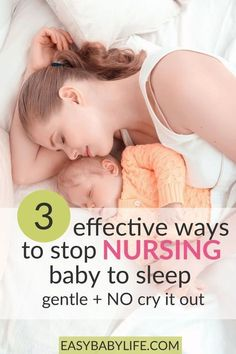 Three awesome ways to stop nursing a baby to sleep. NO Cry-it-out! Stop breastfeeding at night | Weaning from night feeding | Breastfeeding tips | Baby sleep tips #breastfeeding #babysleep