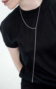 Minimalist jewelry; line necklace