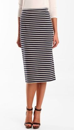 love the silhouette (and the stripes, of course).