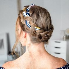 hair tutorial video, braided hairtsyles – My World Side Braid Hairstyles, Braided Hairstyles Tutorials, Cool Hairstyles, Summer Hairstyles, Scarf Hairstyles Short, Updos Hairstyle, Gorgeous Hairstyles, Hairstyles Videos, Bandana Hairstyles