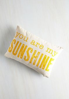 Light Up the Living Room Pillow. Spread a little sunshine over your abode with this cheery throw pillow! #multi #modcloth