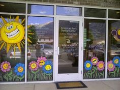 Artistic Murals: window painting/ seasons Spring,Summer, Fall etc.