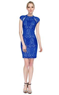 Yigal Azrouel Stretch Paisley Jacquard Dress   Moda Operandi