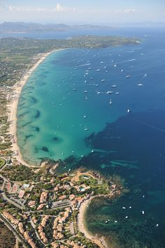 Pampelonne Beach, near Saint-Tropez- favourite beach-long golden sandy beach