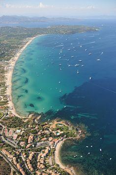 Pampelonne Beach, near Saint-Tropez- favourite beach-long golden sandy beach