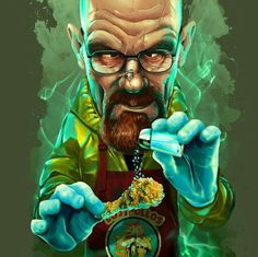 breaking bad shirt Who does not know Walter White? star of the hit series Breaking Bad. Ironically cartoon now available on your shirt! Walter White, Cartoon Kunst, Cartoon Art, Art Breaking Bad, Breaking Bad Poster, Breking Bad, Arte Dope, Heisenberg, Graffiti Art