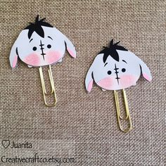 Cute Donkey - Tsum Tsum Inspired, Planner Clip, Page Clip, Bookmark, Paper…