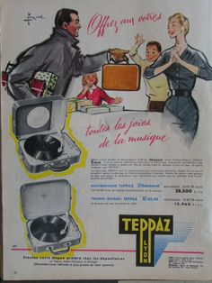 TEPPAZ French advertisement