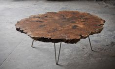 MAPLE BURL COFFEE TABLE : ETHER