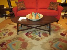 Oval coffee tables seemed to disappear for a while, but keep faith, I saw a few. 2013 Fall High Point Furniture Market Trends by: Asia Evans Artistry for Manteo Furniture #HPMKT