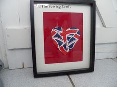 MAY 2012, The Diamond Jubilee (The Queen) - Union Jack Heart, by The Sewing Croft, £23