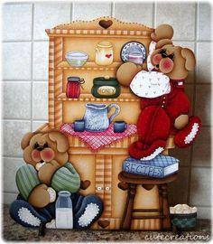 HP TEDDY BEARS Cubbies in the Cupboard SHELF SITTER