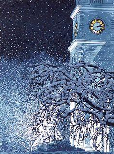 """Illumination"" by William Hays, linocut"