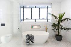 The Block 2016 Ensuite Bathroom Photos Ensuite Bathrooms, Bathroom Renos, Master Bathroom, Simple Bathroom Designs, Modern Bathroom, The Block Bathroom, The Block 2016, Bathroom Shelves For Towels, Bathroom Photos