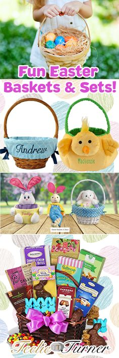 Teelie's Top Pick FUN EASTER BASKETS FOR EVERYONE. See more: www.teelieturner.com The Easter celebration won't be complete without Easter egg hunting! Make it more fun with our handpicked personalized and gift basket sets. #easteregg