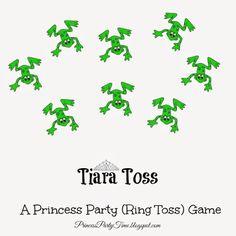 It's a Princess Thing: Tiara Toss - A Princess Party (Ring Toss) Game Disney Princess Games, Princess Party Games, Kids Party Games, Games For Kids, Kids Rings, Sofia Party, Ring Toss, Princess Tiara, Toss Game