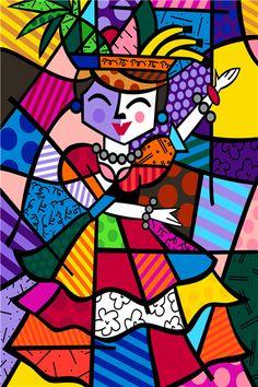 Carmen Miranda by Romero Britto. Carmen Miranda, Pintura Graffiti, Graffiti Painting, Graffiti Art, Arte Pop, Pop Art, Neo Pop, Art Plastique, Abstract Pattern