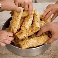 """The woman who made the diples [fried dough] was like my grandmother—she wore a bib apron 24 hours a day,"" Michael Psilakis says. More Recipes b. Nut Recipes, Pastry Recipes, Greek Recipes, Wine Recipes, Dessert Recipes, Greek Meals, Recipies, Greek Sweets, Greek Desserts"