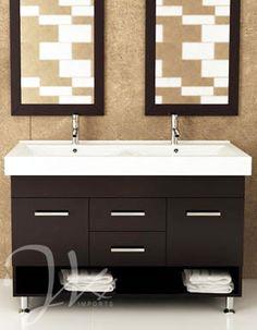 "48"" Rigel Double Bathroom Vanity - Espresso - a modern classic. $1199.00"
