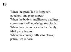 18 Tao Te Ching - Lao Tse (Lao Tzu)