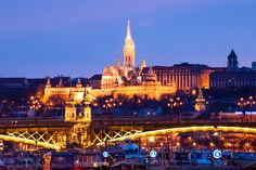 Matthias Church and Fisherman's Bastion in evening - Budapest, Hungary