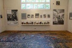 pollock's studio, preserved.