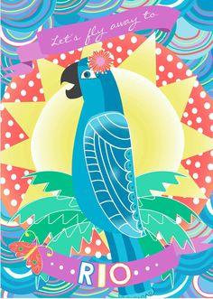 RIO // Birthday Invitation by LittleBohemianPapier on Etsy // #RIO #birthday #party