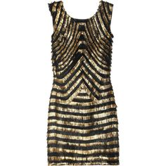 Gucci Metallic-Striped Fringe Leather Dress..net-a-porter.com