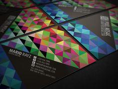 Pixel Mosaic Business Card Design by Lemongraphic