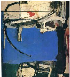 Richard Diebenkorn . wonderful composition.  #art #painting #abstract #richard_diebenkorn #blue