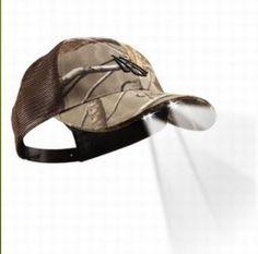 Panther Vision POWERCAP 4 LED Light Beanie Hat 2pk Black /& Camo Fishing Hiking