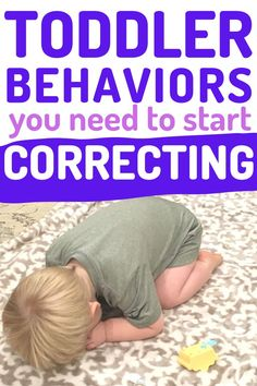 Examples of Toddler Behaviors that need your attention and correction. Don't keep ignoring behaviors thinking they'll go away! Instead, start correcting them with teaching and thoughtful discipline! Including How to make a plan that works for your family! #toddler #toddlerdiscipline #discipline #baby #tantrums #terribletwos #momlife #mom #momhacks Toddler Behavior, Toddler Discipline, Toddler Age, Parenting Toddlers, Parenting Tips, Terrible Twos, He Is Able, Raising Kids, Toddler Activities