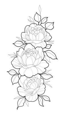 Dope Tattoos, Pretty Tattoos, New Tattoos, Tattos, Flower Tattoo Designs, Flower Tattoos, Floral Mandala Tattoo, Beginner Tattoos, Drawing Templates