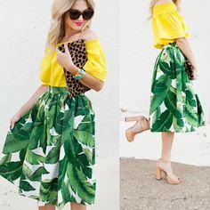 Stylish Dresses For Girls, Girls Dresses, Summer Dresses, Iranian Women Fashion, Womens Fashion, Leaf Skirt, Cotton Dresses, Hourglass Style, Vintage Dresses