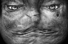 Reversed Faces Looking Like Aliens