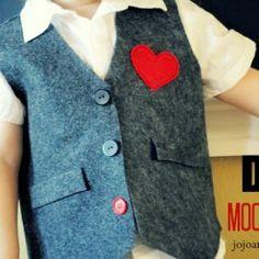 Diy Mock Boys Vest. Love this for my little ring bearer :)