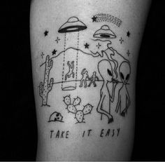 Freak alien tattoo